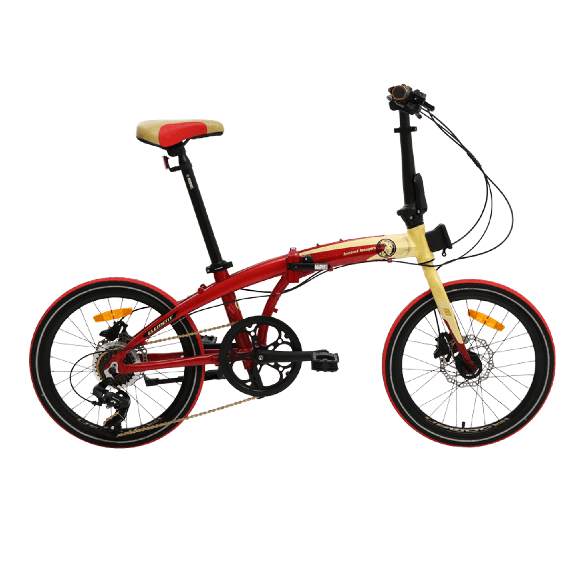 Element Folding Bike Ecosmo Iron Man Edition